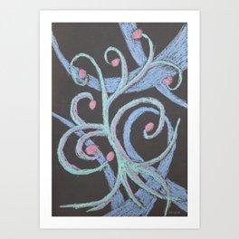 No. 32, Abstract Metallic Pastels Art Print