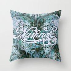 Namaste in Blue Throw Pillow
