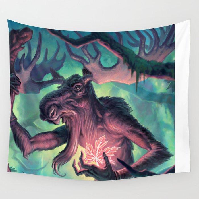 Moose Shamman Wall Tapestry