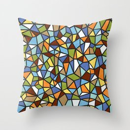 The Multi-Faceted Earth Throw Pillow