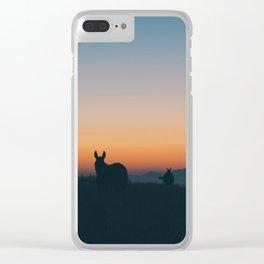 Santorini Donkeys Clear iPhone Case