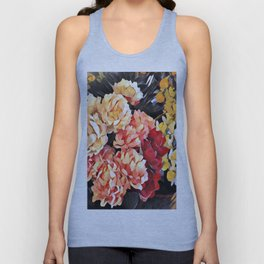 Peaches and Cream Floral Bouquet Unisex Tank Top