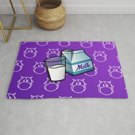 Abstract Colorful Background with Milk - Poster - Paper - Cow Rug