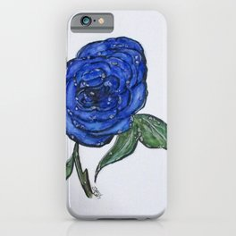 Blue And Wet, Rose iPhone Case