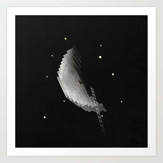 building the moon for you Art Print