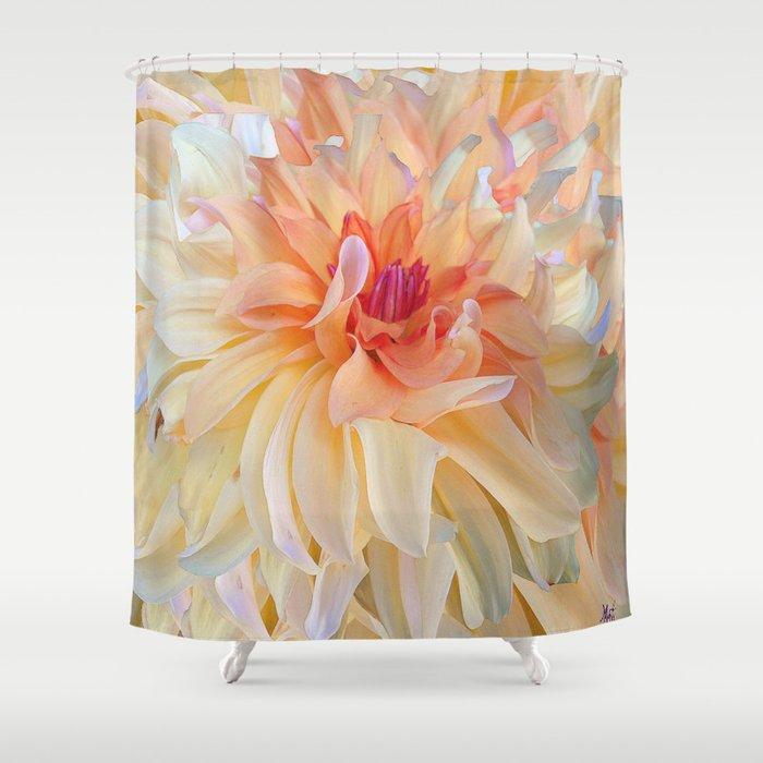 Dancing Dahlia Shower Curtain By Micheleavanti