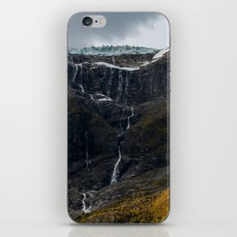 Icy Mountain Waterfall Landscape iPhone Skin