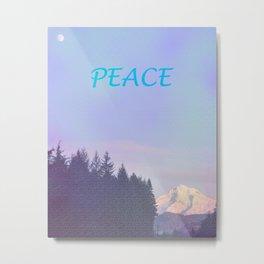 PEACE ON MOUNT HOOD Metal Print