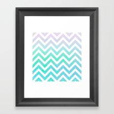 Fairy Dust Chevron Framed Art Print