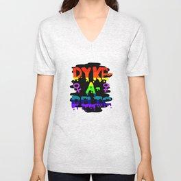 Dyke-A-Delic Unisex V-Neck