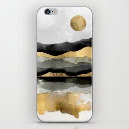 Golden Spring Moon iPhone Skin