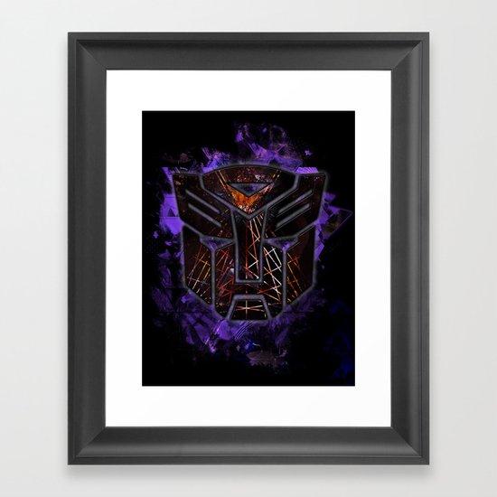 Autobots Abstractness - Transformers Framed Art Print