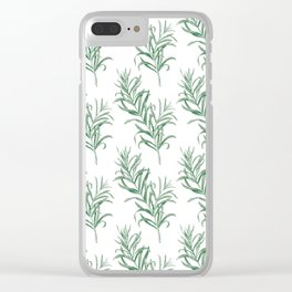 rosemary pattern Clear iPhone Case