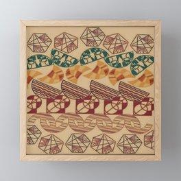 Facetnating Geometric Shapes Framed Mini Art Print