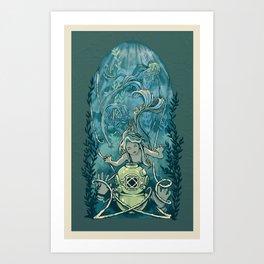 s'accrocher à l'amour Art Print