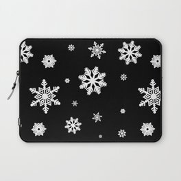 Snowflakes | Black & White Laptop Sleeve