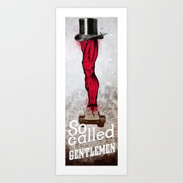 gentlemen Art Print
