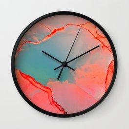 BETTER TOGETHER - LIVING CORAL by MS Wall Clock