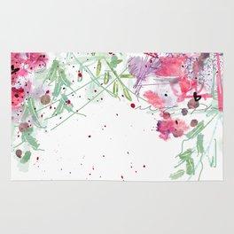 Falling flowers love Rug