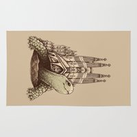 architecture Area & Throw Rugs featuring Slow Architecture by Enkel Dika