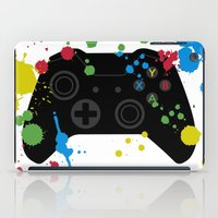 xbox iPad Cases featuring Controller Graffiti XBox One by AngoldArts