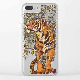 tiger boss Clear iPhone Case