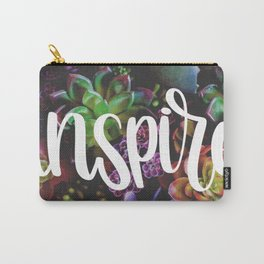 Inspire Succulent Lettering Carry-All Pouch
