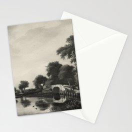 Jacob van Ruisdael - The Stone Bridge Stationery Cards