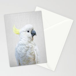 White Cockatoo - Colorful Stationery Cards