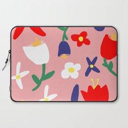 Large Handdrawn Bacchanal Floral Pop Art Print Laptop Sleeve