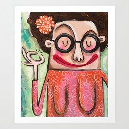 Debra's Boobie Gal Print Art Print