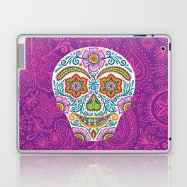 Flower Power Skully Laptop & iPad Skin