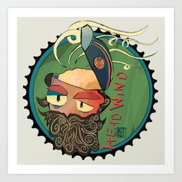 Headwind Art Print