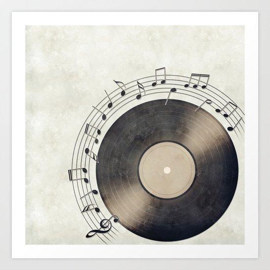 Vinyl Music Collection Art Print