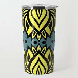 Waterlilies(grey/blue background) Travel Mug