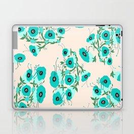 Teal Flowers Laptop & iPad Skin