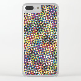 Abstract dots Clear iPhone Case