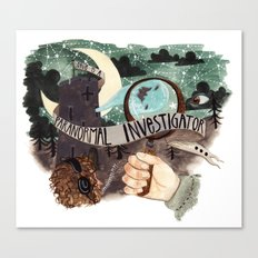 He is a paranormal investigator Canvas Print