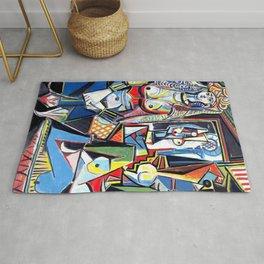 Pablo Picasso - Les Femmes d'Alger (Women of Algiers) 1955 Artwork Rug