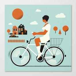 Bike riding ... Canvas Print
