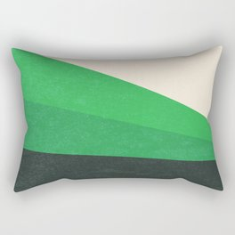 Stripe V Green Fields Rectangular Pillow
