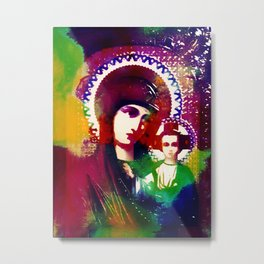 Psychedelic Mother of God (The Technicolor Saints) Metal Print