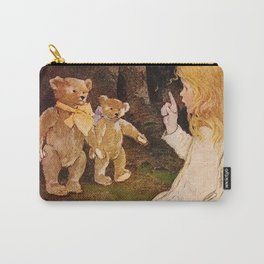 """""""Goldilocks and the Bears"""" by Jessie Willcox Smith Carry-All Pouch"""