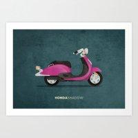honda Art Prints featuring Honda Shadow by Floris Voorveld