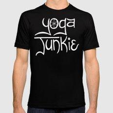 Yoga Junkie Black Mens Fitted Tee MEDIUM