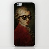 mozart iPhone & iPod Skins featuring Funny Steampunk Mozart by Paul Stickland for StrangeStore
