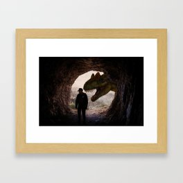 T-Rex Cop by GEN Z Framed Art Print