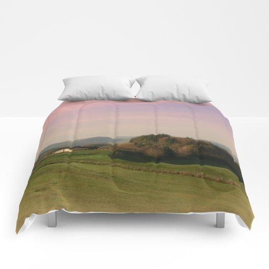 Landscape view Comforters