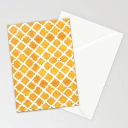 Yellow Turkish Morroccan Ikat Pattern Overall Design by Megan Duncanson Stationery Cards