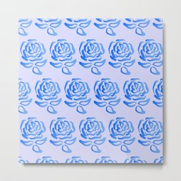 Blue Roses Design Metal Print